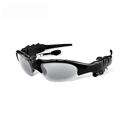 Bluetooth Brillen ollivan Intelligente Rauschunterdrückung One für Zwei Bluetooth-Bluetooth Headset 4.1Stereo Polarisierte Sonnenbrille für Musik Anrufe grau