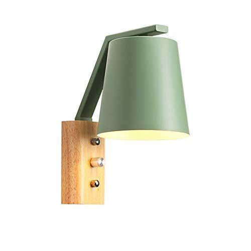 Wnglei creativo in legno massello lampada da parete in ferro con interruttore lampada da parete camera da letto lampada da comodino studio torcia lampada da parete in rovere (color : d)