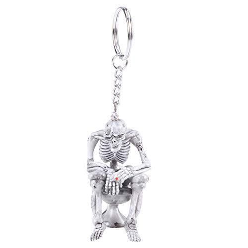 BESTOYARD Mode-WC-Schädel-Keychain-Gummischlüsselring-Schlüssel-Halter-Handtaschen-Dekorationen, die Anhänger hängen (Schlüssel-halter Für Die Handtasche)