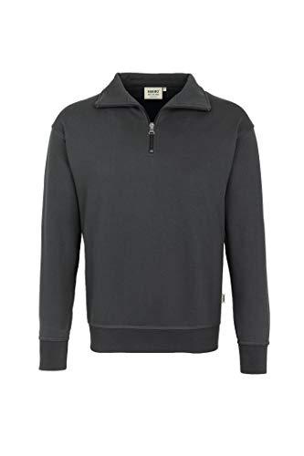 HAKRO Zip-Sweatshirt,anthrazit, Größen: XS - XXXL Version: XL - Größe XL