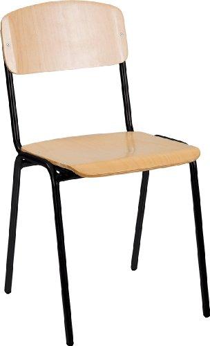10x Besucherstuhl Stuhl Stühle Konferenzstuhl Büromöbel stapelbar Buche 225315