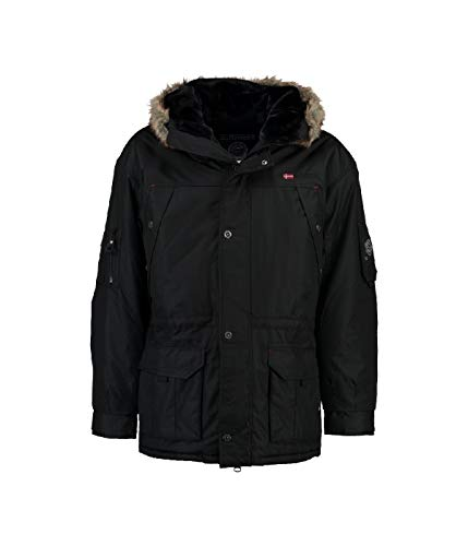 Geographical Norway - Parka Homme Anaconda Noir-Taille - L