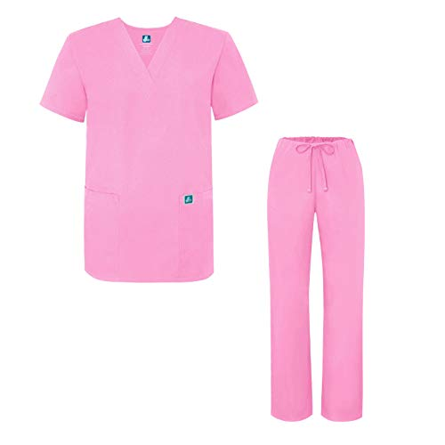 Adar Universal Medical Scrubs Set Medical Uniforms - Unisex Fit - 701 - SBT -XL (Medical Uniform Top Und Hose)