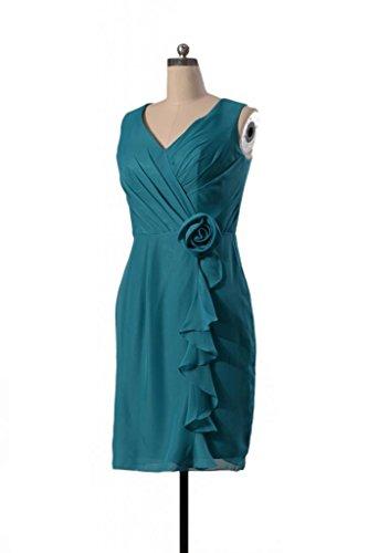 daisyformals courtes col en V robe de demoiselle d'honneur soirée robe vintage (bm266) Rouge - #10-Dark Scarlet