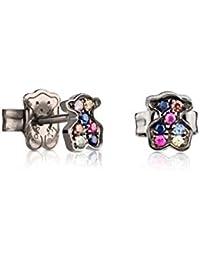 TOUS Women Fantasy Multicolour Sapphire Stud Earrings 313673520