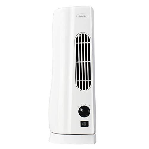 AirArtDeco Mini Ventilador de Torre de 15 Pulgadas 48 cm con Control Remoto para el hogar y la Oficina...