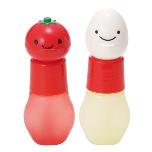 tomato egg ketchup mayonnaise sauce containers Bento Box by Kawaii (Container Bento-sauce)