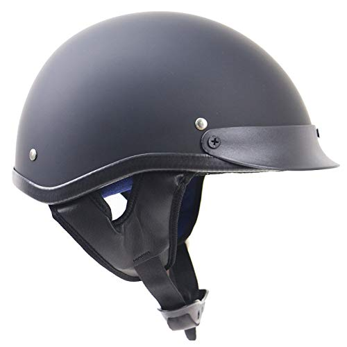 gyl Motorradhelm Halbschalenhelm Vespa Scooter Jet Bobber Helmet- ZR-310 Pilot Cruiser Vintage Moped Chopper Helmet Biker Retro-Adult Men Women,A-M -
