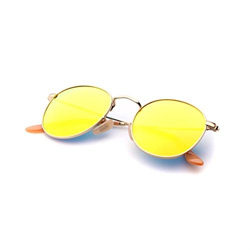 Sonnenbrille Sonnenbrille Damen High-Definition Polarisierte Europa Die Vereinigten Staaten UV Anti-UV400 Blendfreie Mode Metall Gläser Schlagfestigkeit (Farbe : Gold)