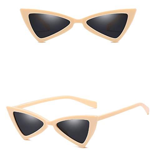 Makefortune Frauen Sonnenbrillen, Frauen-Weinlese-Katzenaugen-Sonnenbrille-Retro- kleiner Rahmen UV412 Eyewear arbeiten Damen-Gläser um ...