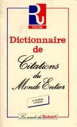 Dictionnaire de citations du monde entier PDF Books