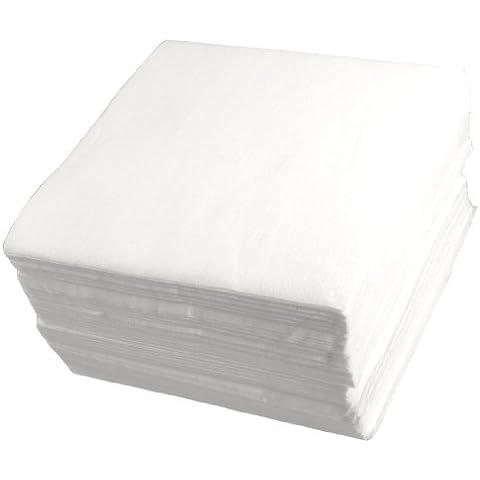 Blanco 15,24 cm x 15,24 cm poliéster no tejida limpiar sala limpia limpiaparabrisas 300 piezas
