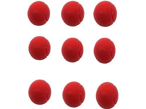 Deals Fußball 70mm Weicher Schaumstoff Tennis Bälle-9Stück Rot (Tennis-fußball-kinder)