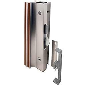 Aluminum : Slide-Co 14206 Sliding Glass Door Handle Lock, Hook Style, Surface Mount, Aluminum