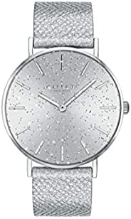 Coach Women'S Silver White Dial Metallic Silver Calfskin Watch - 1450