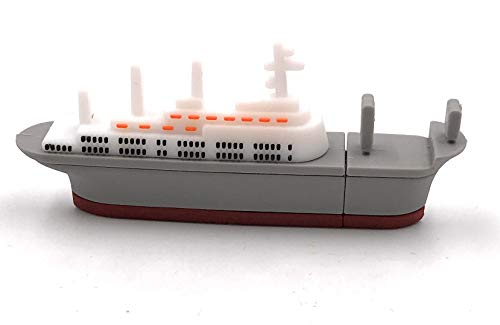 Price comparison product image Onlineworld2013 Boat Ship Freighter Steamship Gray Funny USB Stick 8 GB USB 3.0