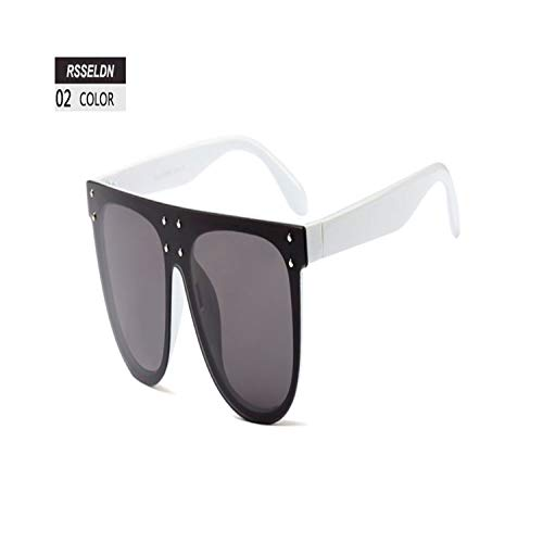 Sport-Sonnenbrillen, Vintage Sonnenbrillen, Oversized Square Sunglasses Women NEW Luxury Brand Designer Rivet Sun Glasses Male Flat Top Vintage Eyewear UV400 02
