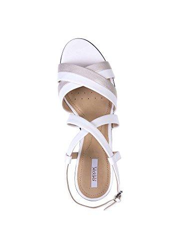 Geox D721VB 085SK Sandalo Tacco Donna Bianco