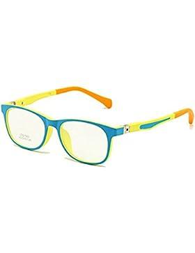 Niños Gafas TR90 Tamaño 45 Seguro Flexible con Bisagra de Primavera Flexible Marco Óptico Niños Niñas Niños Anteojos...