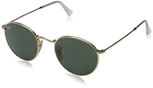 ray-ban-unisex-sonnenbrille-round-metal-gr-medium-herstellergrosse-47-gold-gestell-gold-glaser-grun-