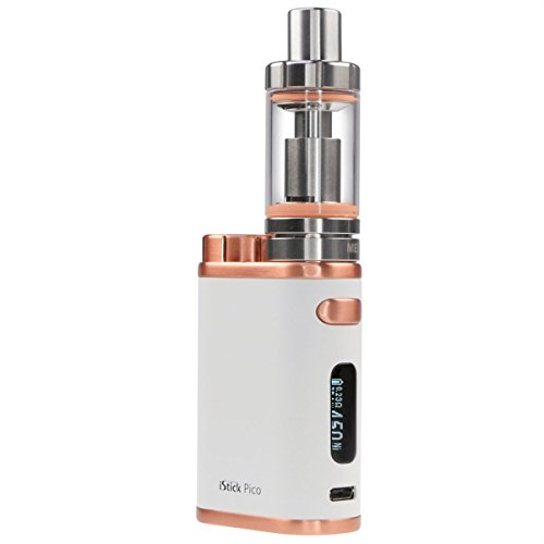 Eleaf iStick Pico 75 Watt Kit mit Melo 3 Clearomizer 4 ml, Riccardo e-Zigarette, weiß-bronze