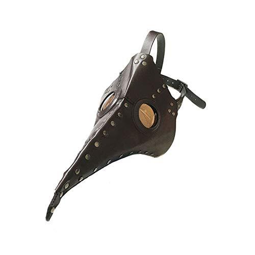 QCHNES Maske Halloween Plague Long Bird Mouth Doctor Plissee Dance Maske Steampunk Cosplay Kostüm Prop Geschenk Erwachsene und Teenager (Farbe: - Scream Kostüm Braun
