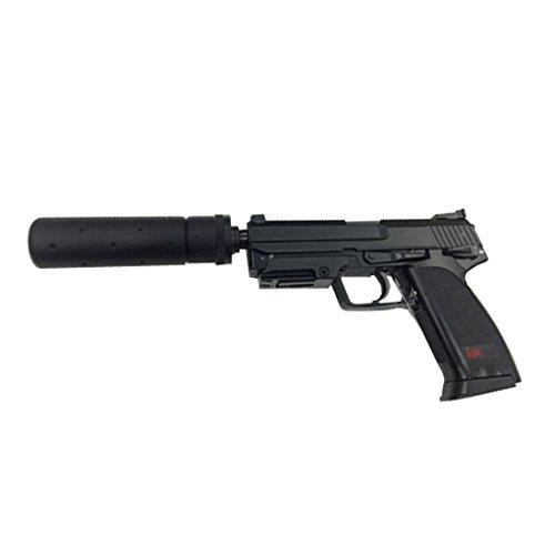 Heckler & Koch Softair USP Tactical mit Maximum 0.5 Joule Airsoft Pistole, Schwarz, One Size