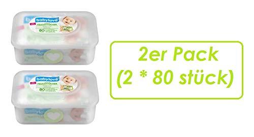 Feuchttücher sensitive + Box, 2er Pack (2 x 80 St)