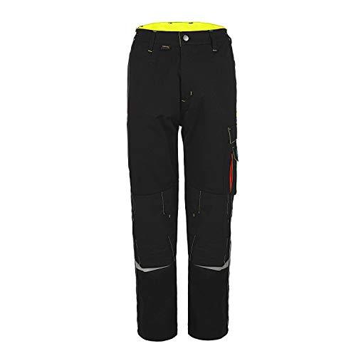 TMG® Profile Robuste Bundhose für Männer | Lange Herren Arbeitshose mit Kniepolster Taschen und Reflektoren | Handwerker, Elektriker, Mechaniker | Schwarz 54