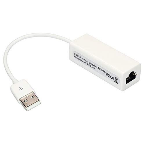 BigBig Style Netzwerkadapter USB 2.0 auf RJ45-Gigabit-Ethernet-Adapter LAN-Adapter Unterstützt 10 Mbit/s- und 100 Mbit/s-Ethernet-Netzwerk für Tablet PC Notebooks Ethernet-notebooks