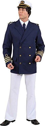 Admiral Jacke, Gr.54/56, blau Kapitän Matrose Kostüm Jackett Marine Offizier Karneval