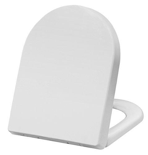 Grünblatt WC Sitz 515051, Hochwertiges Material Duroplast, Soft-Close/Take off Scharniere, weiß