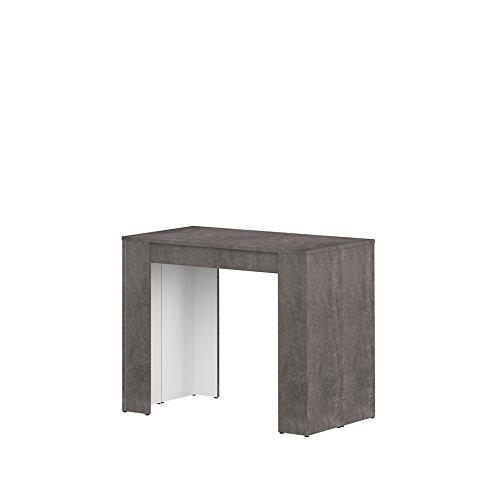 Symbiosis pamplona d4 tavolo consolle, legno, bêton, 74 x 49 x 91 cm