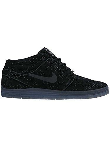 Nike Herren Lunar Stefan Janoski Mid Flash Skaterschuhe, Black (Schwarz / Schwarz-Clear), 42 1/2 EU