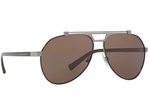 Dolce & Gabbana Herren 0DG2189 131573 61 Sonnenbrille, Braun (Matte Gunmetal/Brown)