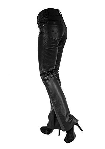 Marie Damen Lederhose aus echtem Lamm Nappa Leder Schwarz