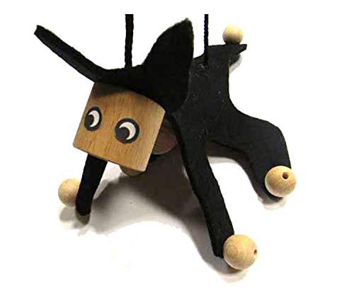 Kindermarionette Holz Filz Holzspielzeug Kind Katze schwz ()