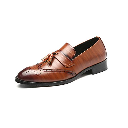 NXY Hombres Vendimia Borla Mocasín Cuero Zapatos