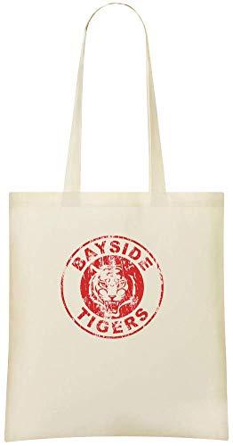 Jimmy Apparel Bayside Tiger - Bayside Tigers Custom Printed Shopping Grocery Tote Bag 100% Soft Cotton Eco-Friendly & Stylish Handbag For Everyday Use Custom Shoulder Bags