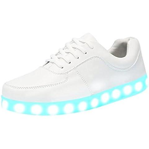 Joney Zapatillas con luz LED de 7 colores, recargable mediante USB, para hombre y mujer
