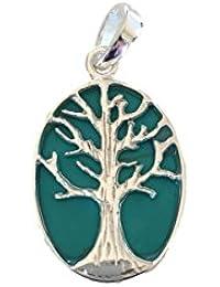 BrendaStyle Bijoux - Pendentif Pour Femme En Argent 925/1000 avec Turquoise - Arbre de vie