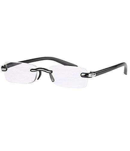 caripe Herren randlose Lesebrille Lesehilfe (+ 2,5 dpt, 4065 - - Rahmenlose Brillengestelle