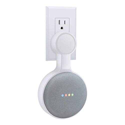 Wovemster Steckdose Wandhalterung Kabel Management Halterung Socket Wall Mount Stand Hanger for Google Home Mini Voice Assistants, Compact Holder Case Wall Mount Stand