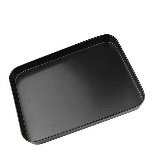 Bandejas para hornos universal inoxidable - Bandeja de horno para galletas de pan de pizza - Sano, no tóxico y antiadherente, fácil de limpiar y apto para lavavajillas -24 x 18 x 2.5cm