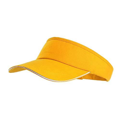 DouRyoku Neue Herren und Damenhüte Outdoor Sports Marathon Running Hat Sport Tennis Caps Pferdeschwanz Baseball (Yellow) (Tennis-marathon)