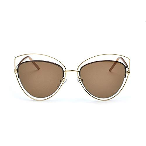 MoHHoM Sonnenbrille Übergroße Spiegel Rosa Sonnenbrille Cat Eye Vintage Sonnenbrille Frauen Weibliche Schattierungen Lady Sonnenbrille Großhandel Gold Kaffee
