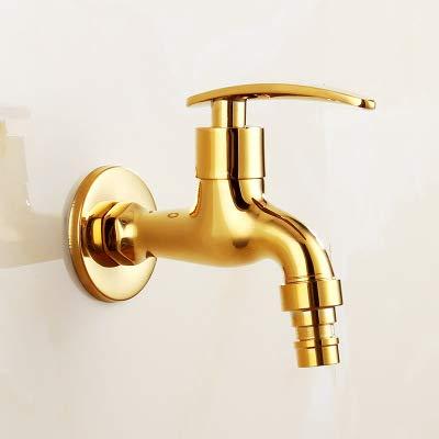 PHA-MACY, Waschmaschinenhahn, Naturgoldkupfer, Wischbecken, schnell geöffneter einzelner kalter Wasserhahn, in die Wand,Kurzes Geld für Waschmaschine