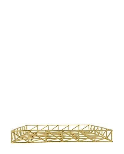 Bloomingville Letter Tray, Shiny Gold Finish L29,5xH3,5xW29,5 cm [P]