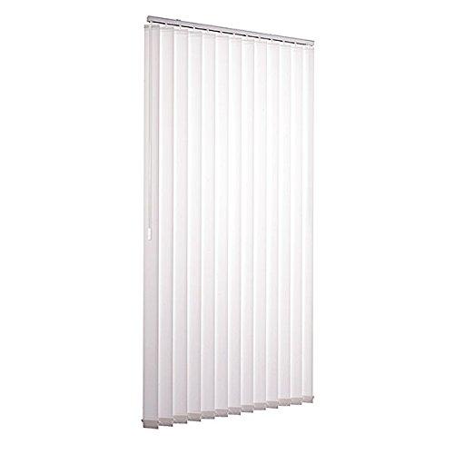Ventanara Lamellenvorhang weiß Vertikaljalousie 89mm inklusive Montagematerial 150 x 250 cm