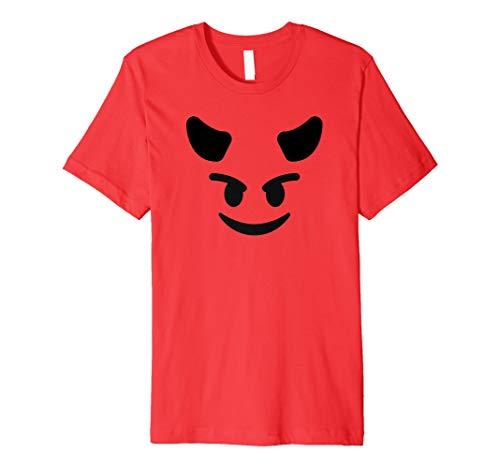 Halloween Teufel Emoji Kostüm -